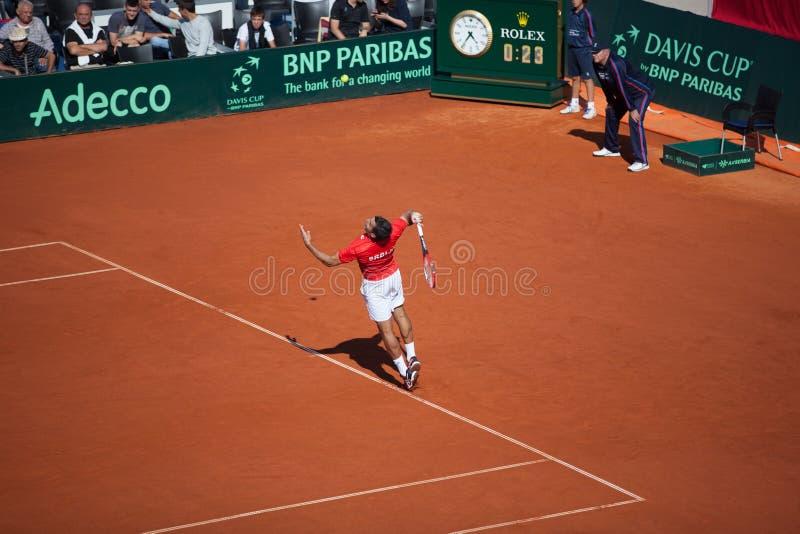 Nenad Zimonjic on Davis Cup, BELGRADE, SERBIA JULY 16, 2016 stock photo