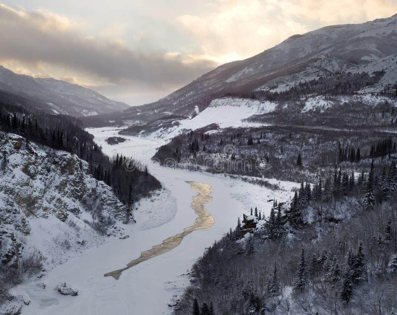 Nenana River Valley royalty free stock photography