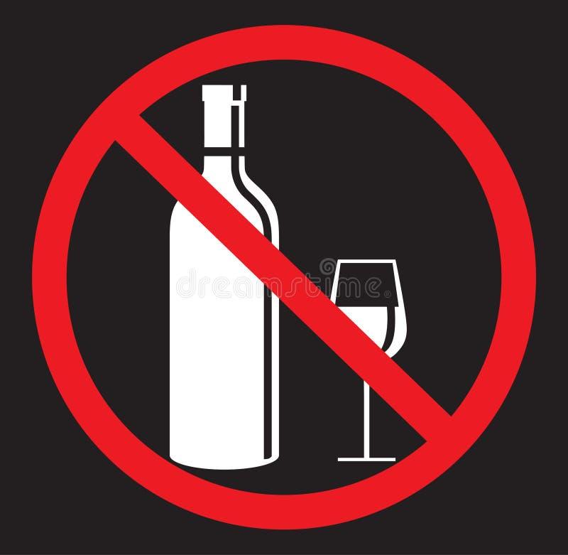 Nenhum álcool que bebe o ícone liso ilustração royalty free