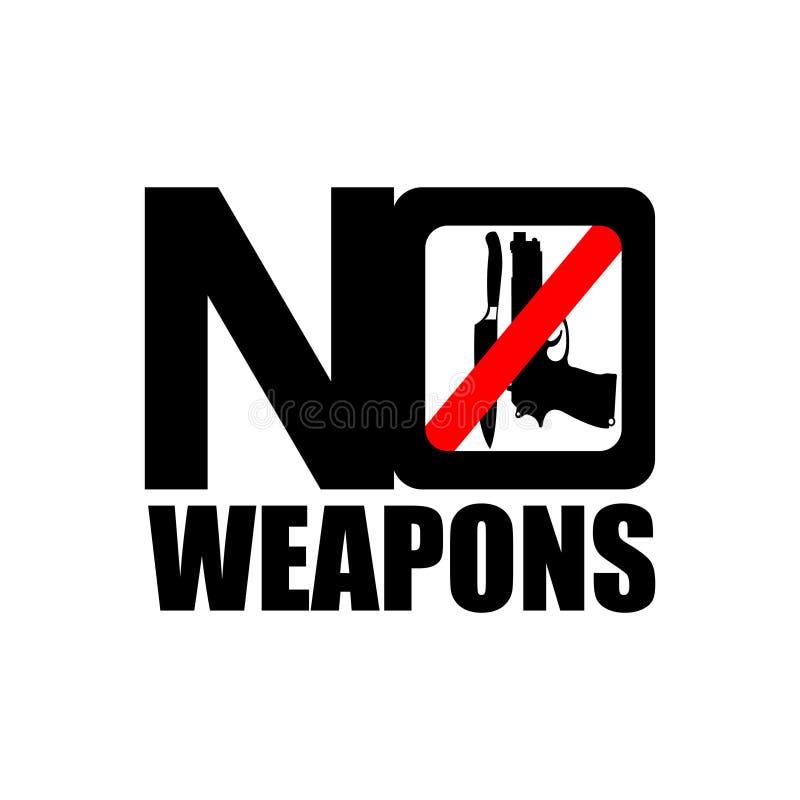 Nenhum ícone das armas ilustração royalty free