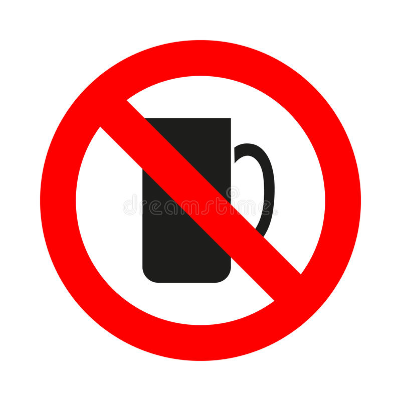 Nenhum ícone do copo de café grande para alguns usa-se Vetor eps10 ilustração royalty free