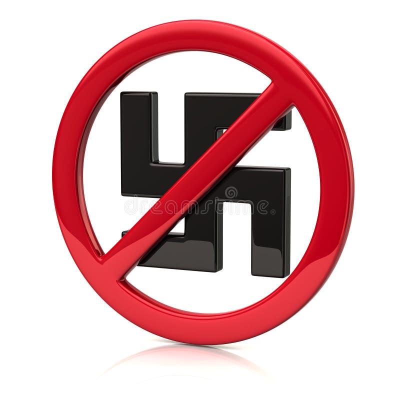 Nenhum ícone do fascismo ilustração do vetor