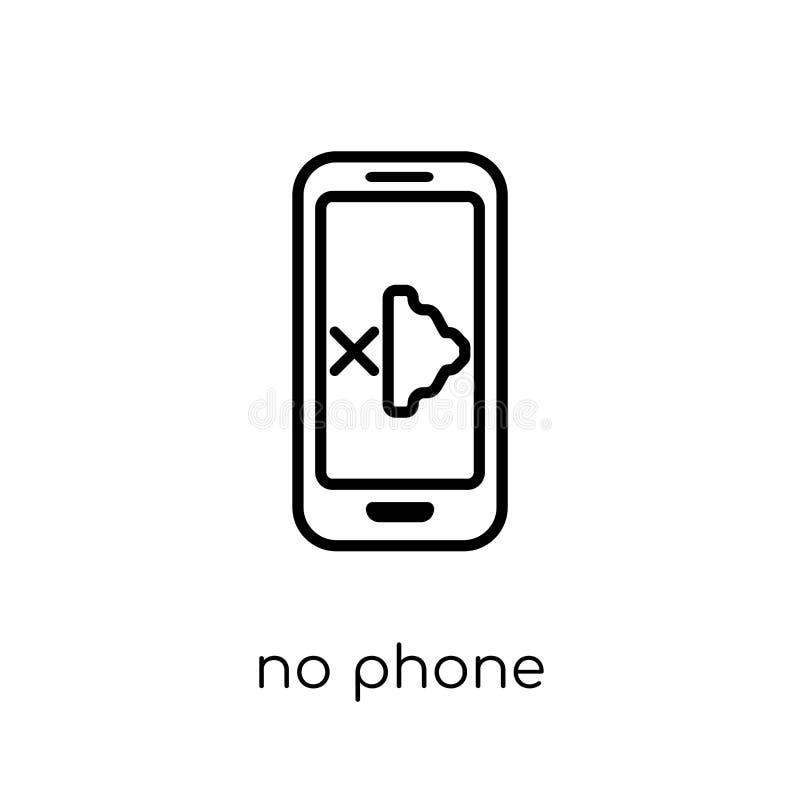 Nenhum ícone do telefone da coleção ilustração stock