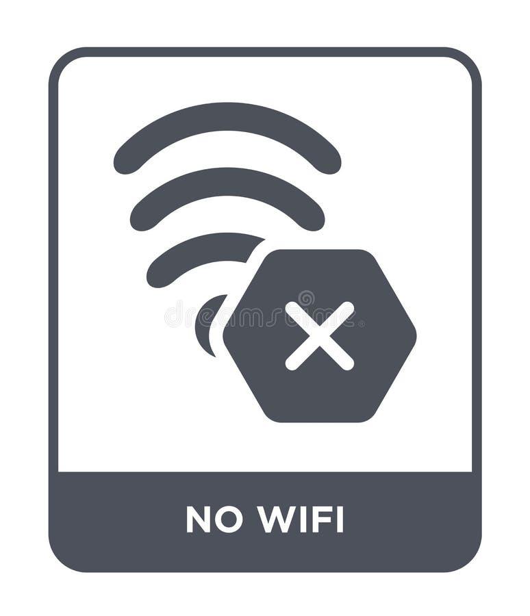 nenhum ícone do wifi no estilo na moda do projeto nenhum ícone do wifi isolado no fundo branco símbolo liso simples e moderno de  ilustração do vetor