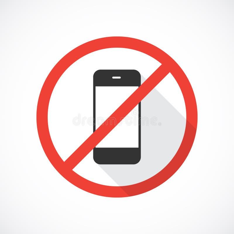 Nenhum ícone dos telefones celulares ilustração do vetor