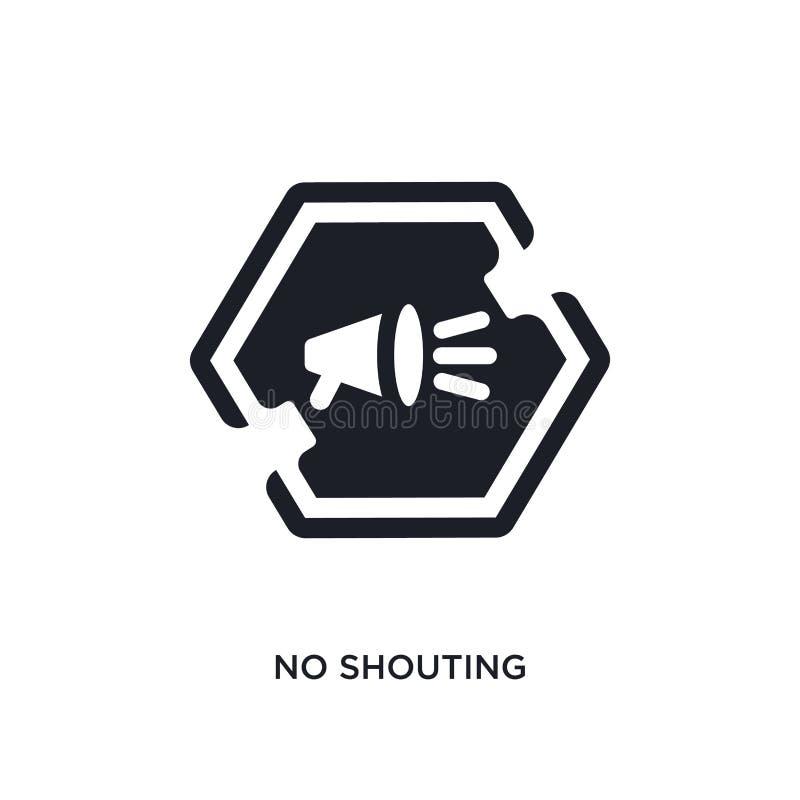 nenhum ícone isolado gritaria ilustração simples do elemento dos ícones do conceito dos sinais nenhum projeto editável do símbolo ilustração royalty free