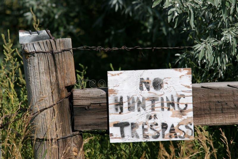 Nenhum caça ou infrinjir imagens de stock