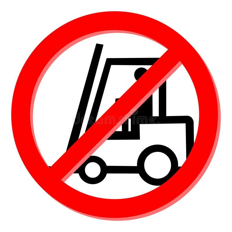Nenhum caminhão de forklift ilustração do vetor