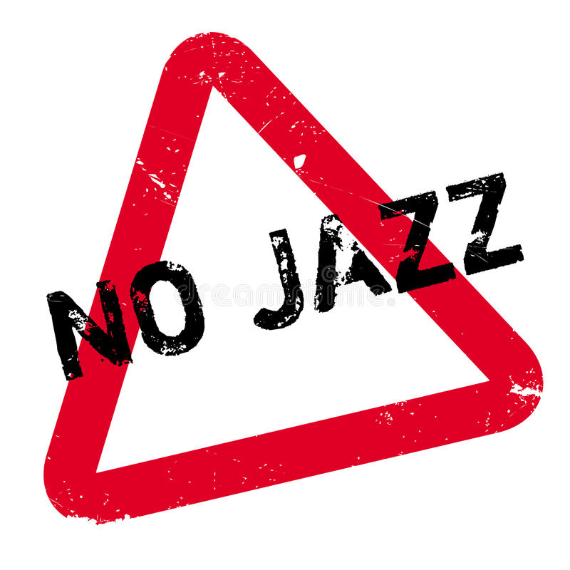 Nenhum carimbo de borracha do jazz ilustração do vetor
