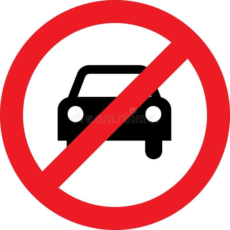 Nenhum carro ou nenhum sinal do estacionamento ilustração do vetor