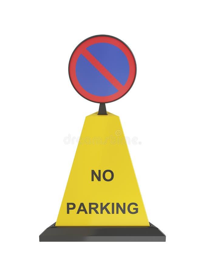 Nenhum cone do estacionamento ilustração do vetor