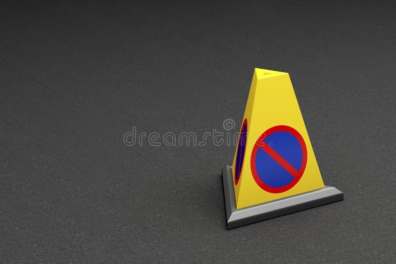 Nenhum cone do estacionamento ilustração royalty free