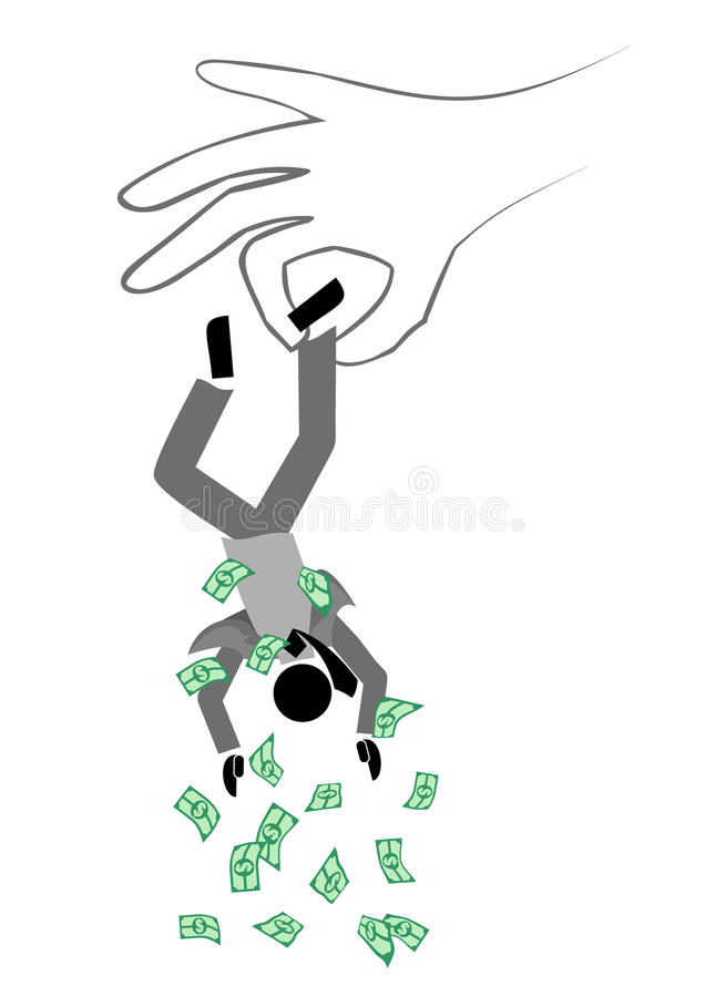 Nenhum dinheiro ilustração royalty free