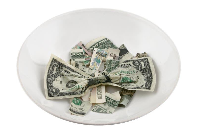 Nenhum dinheiro - nenhum alimento fotografia de stock