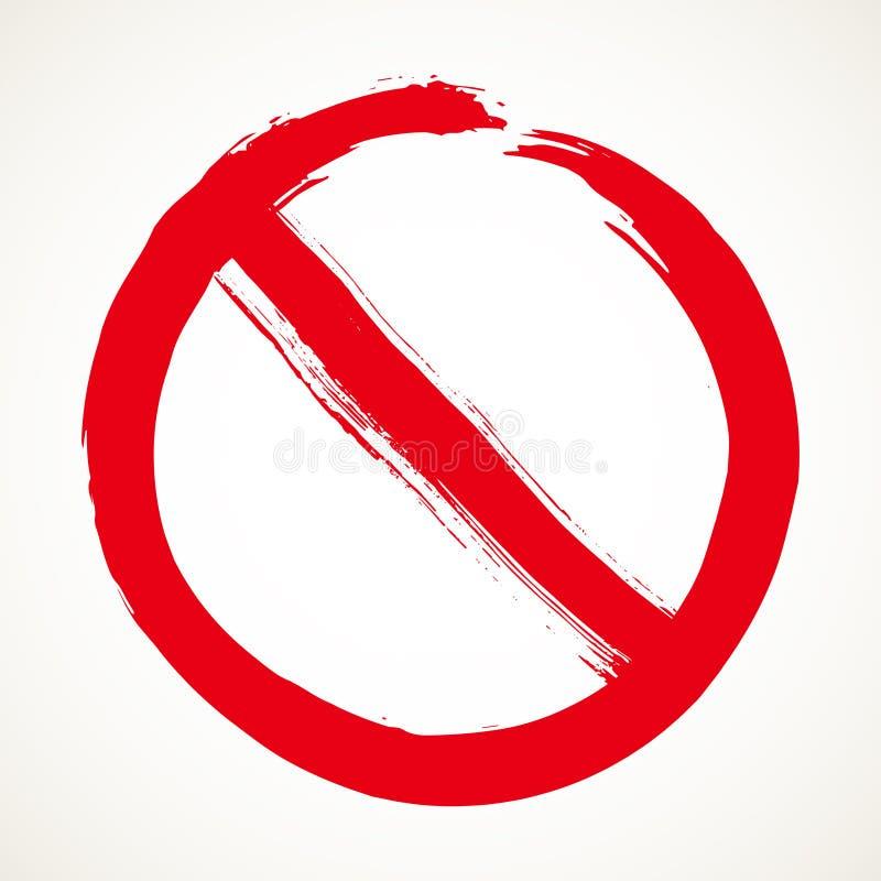 Nenhum elemento do projeto do sinal ilustração royalty free
