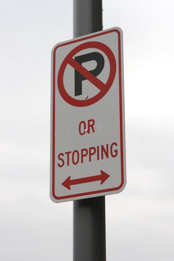Nenhum estacionamento fotografia de stock royalty free