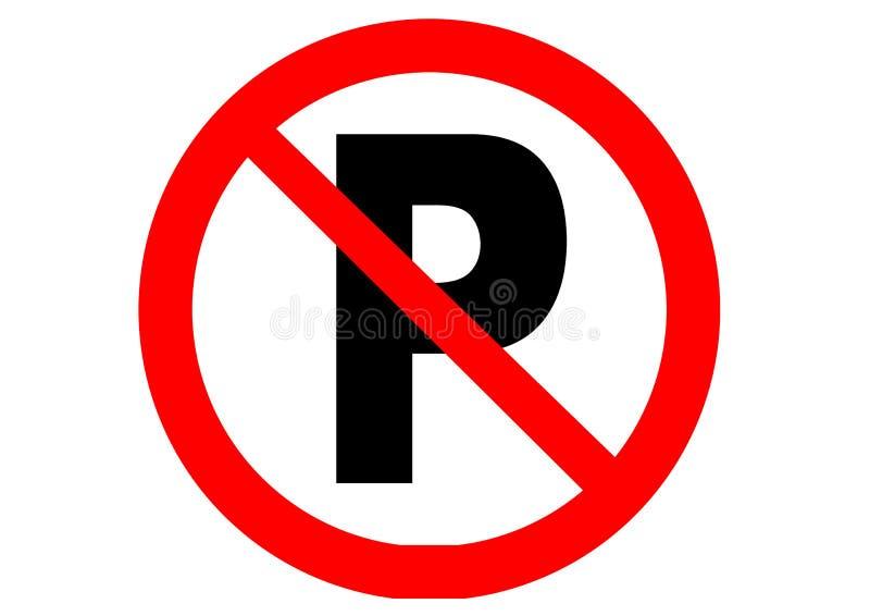 Nenhum estacionamento ilustração stock