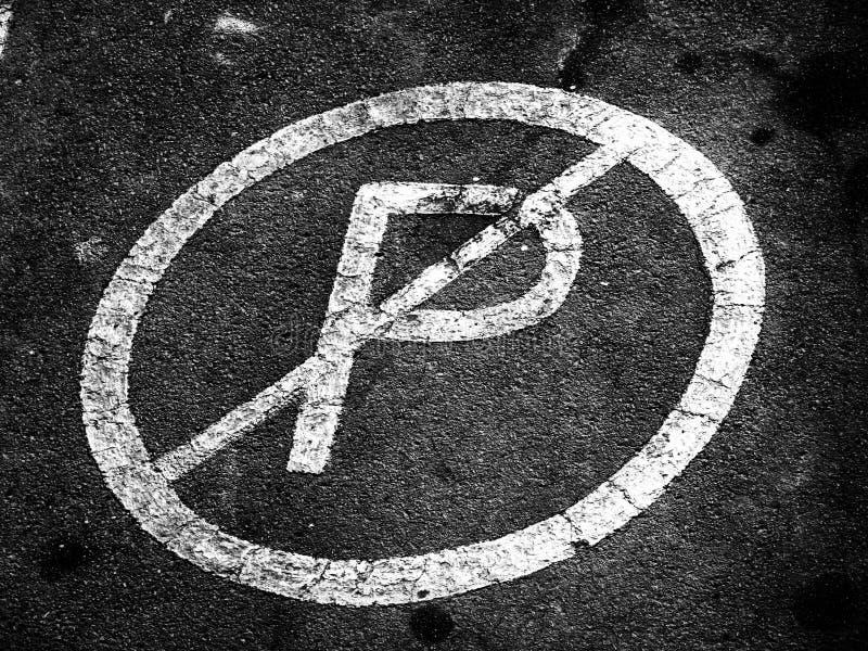 Nenhum estacionamento aqui foto de stock royalty free
