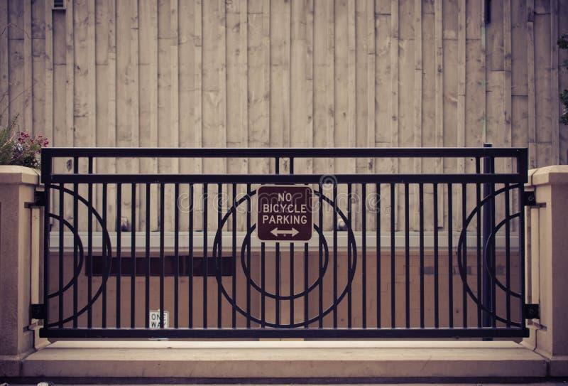 Nenhum estacionamento de Bicylce imagem de stock royalty free