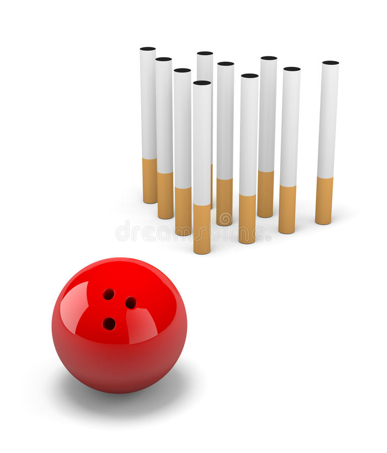 Nenhum fumo ilustração stock