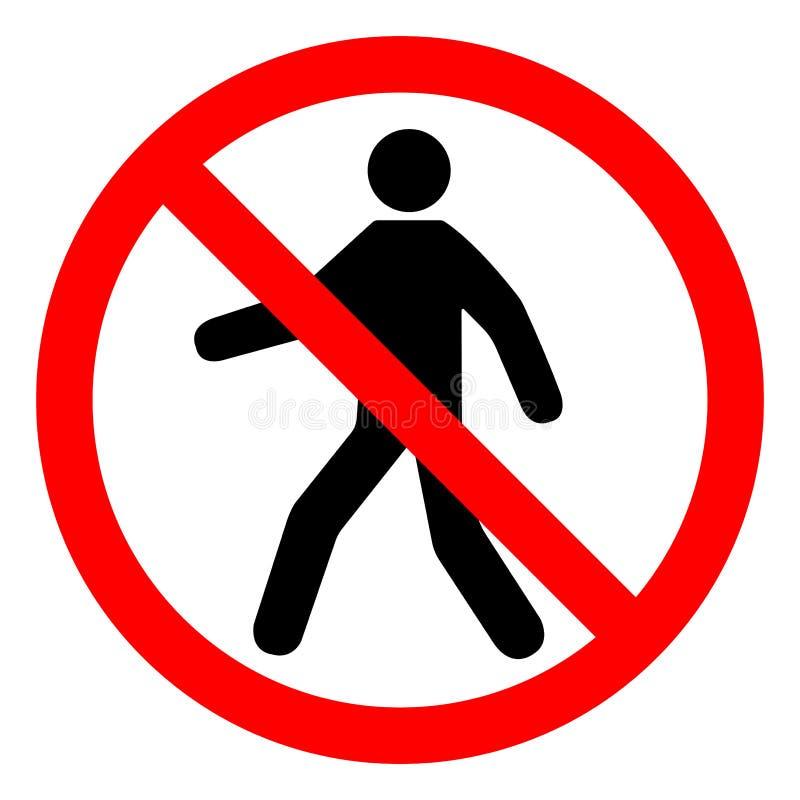 Nenhum isolado do sinal do símbolo de entrada no fundo branco, ilustração EPS do vetor 10 ilustração royalty free