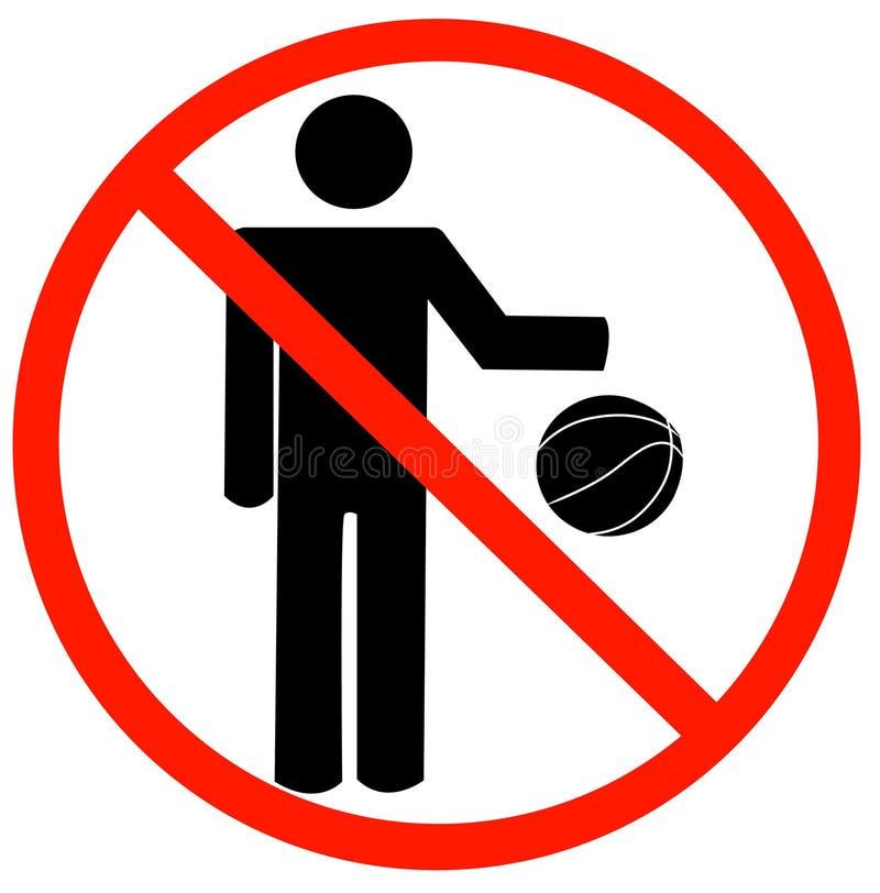 Nenhum jogo permitido ilustração stock