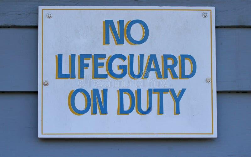 Nenhum Lifeguard no dever fotos de stock