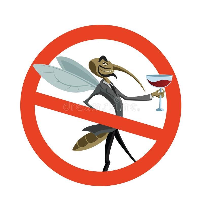 Nenhum mosquito ilustração stock
