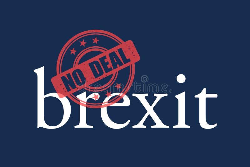 Nenhum neg?cio Brexit ilustração do vetor