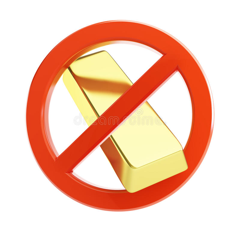 Nenhum ouro ilustração do vetor