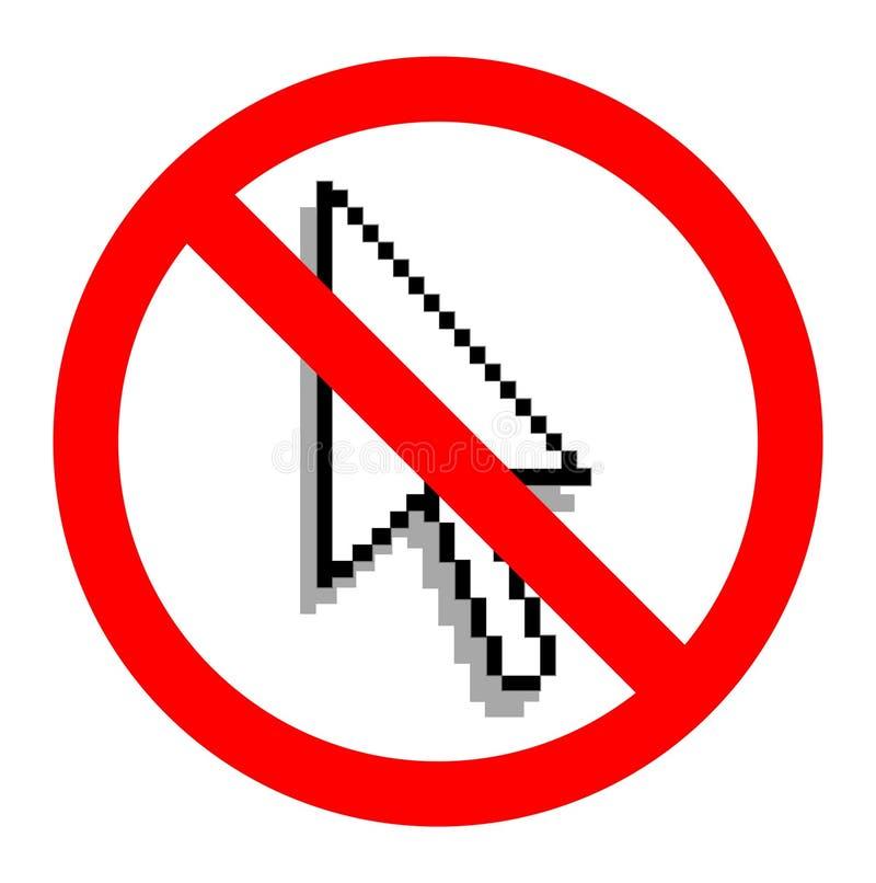 Nenhum portátil do uso, sinal ilustração do vetor