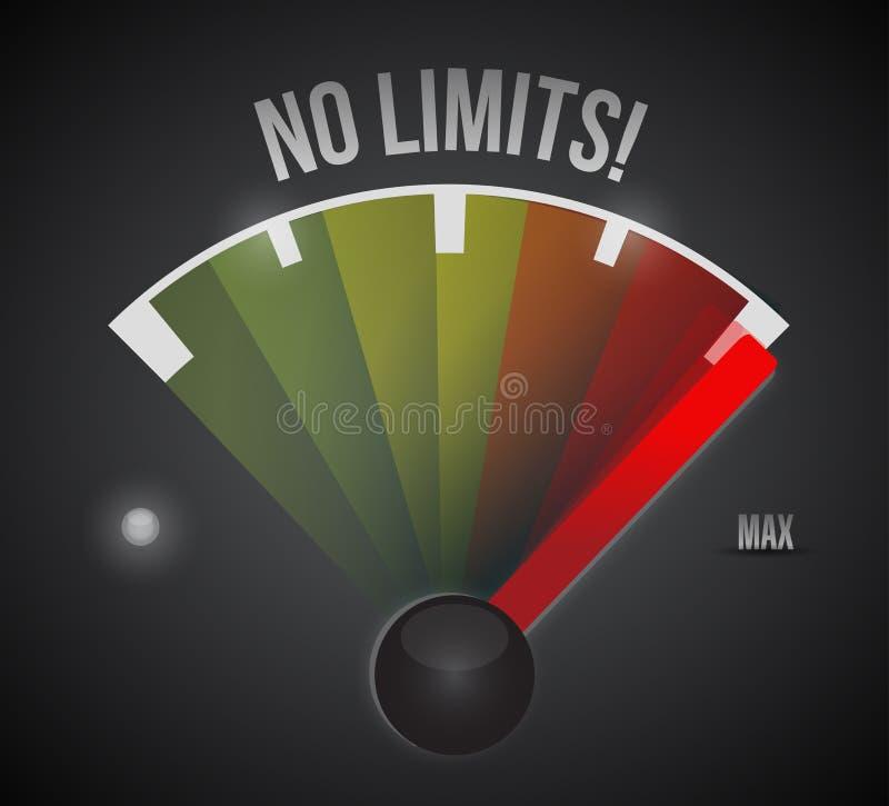 Nenhum projeto da ilustração do velocímetro dos limites ilustração do vetor