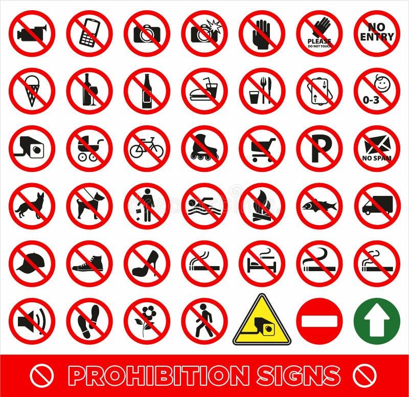 Nenhum símbolo ajustado ilustração stock