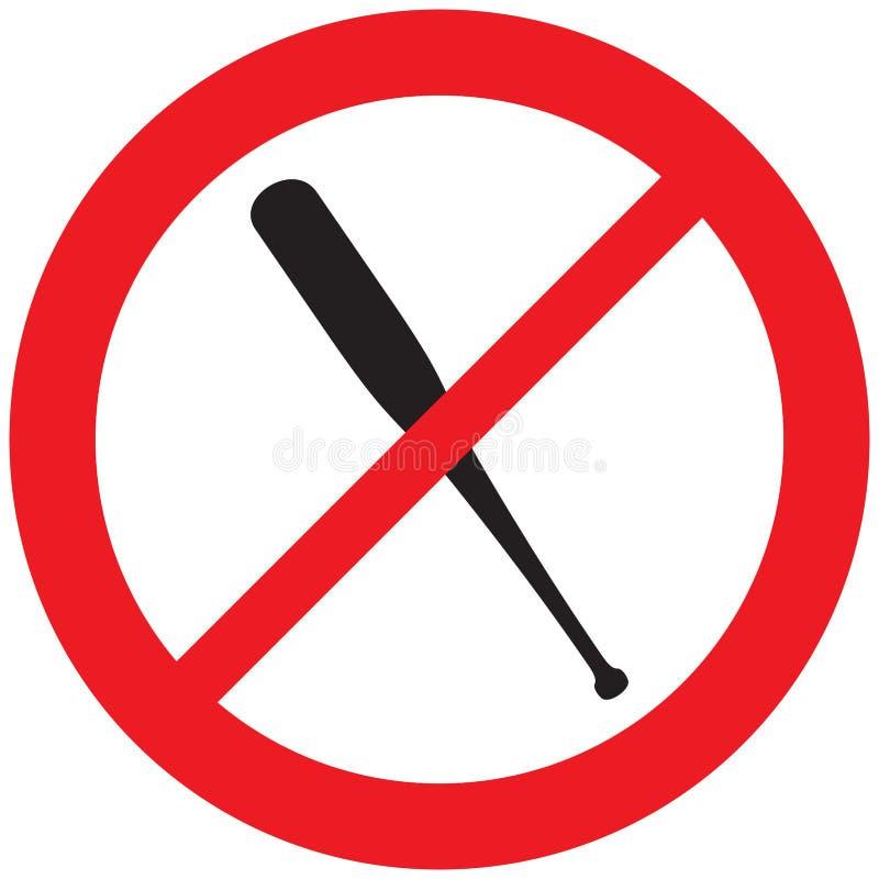 Nenhum símbolo do bastão de beisebol ilustração royalty free