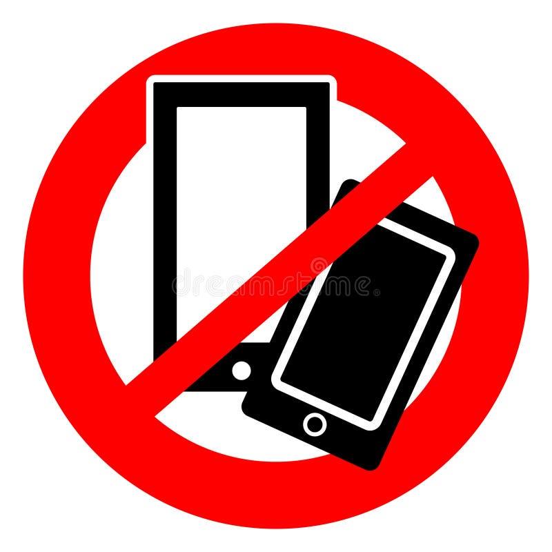 Nenhum símbolo dos telefones celulares ilustração do vetor
