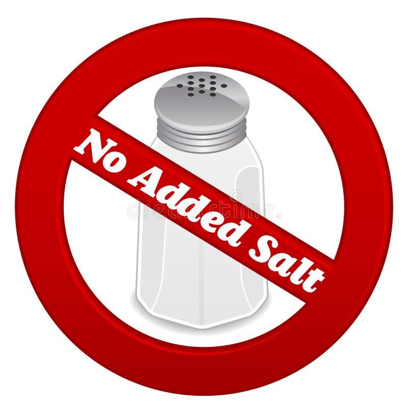 Nenhum sal adicionado ilustração stock