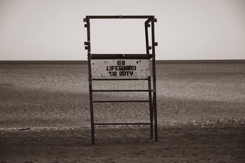 Nenhum Sepia Do Lifeguard Imagem de Stock Royalty Free