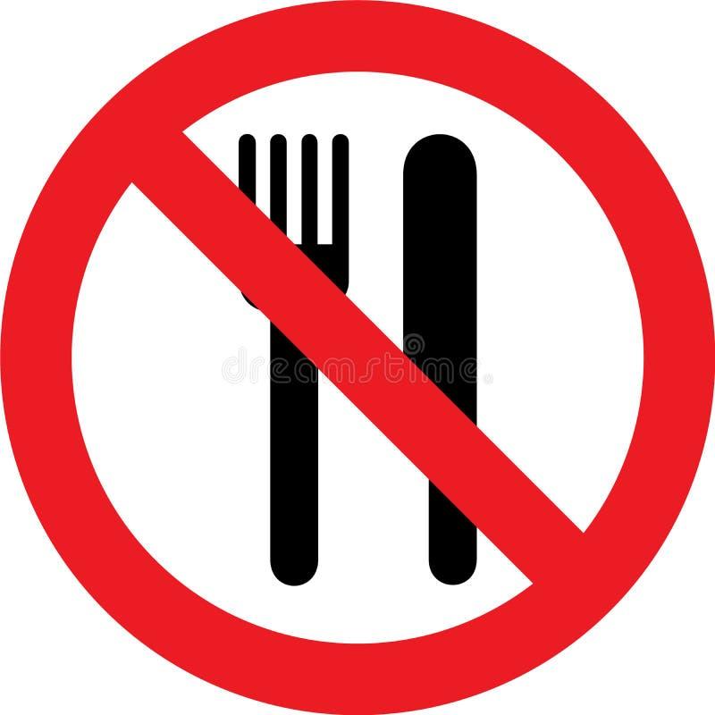 Nenhum sinal comer ilustração royalty free