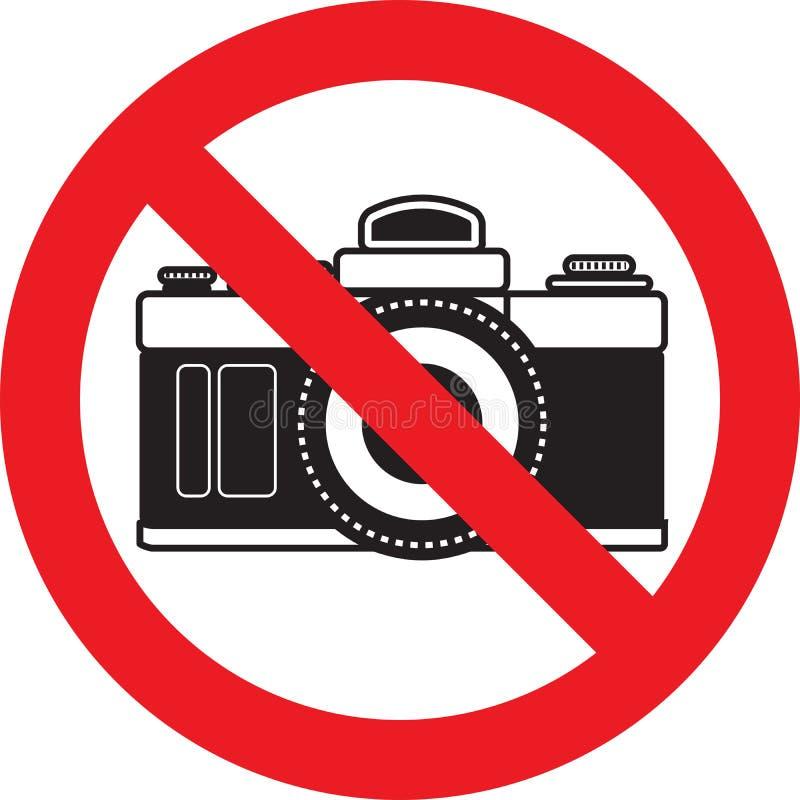 Nenhum sinal da câmera da foto ilustração royalty free