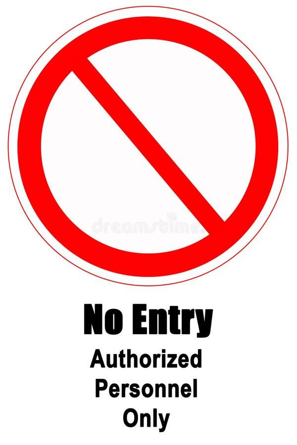 Nenhum sinal da entrada ilustração do vetor