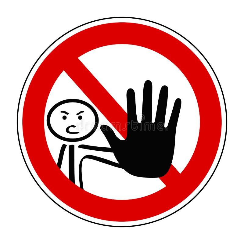 Nenhum sinal da entrada - vetor ilustração do vetor