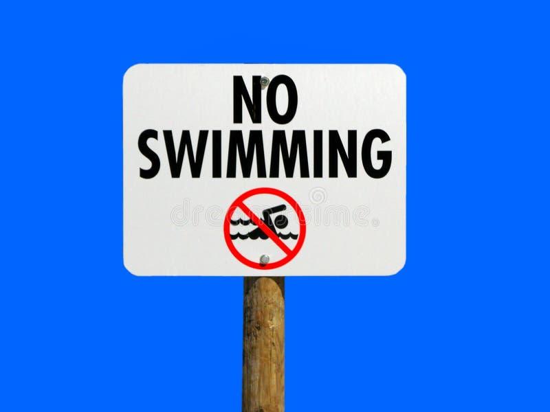 Nenhum sinal da natação fotografia de stock royalty free