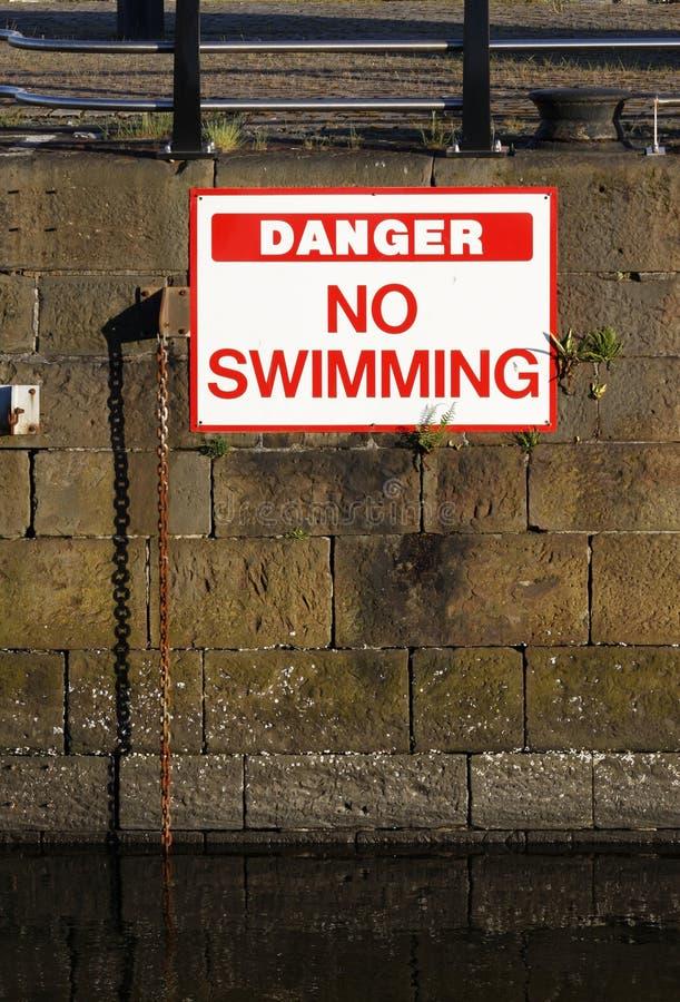 Nenhum sinal da natação imagem de stock royalty free