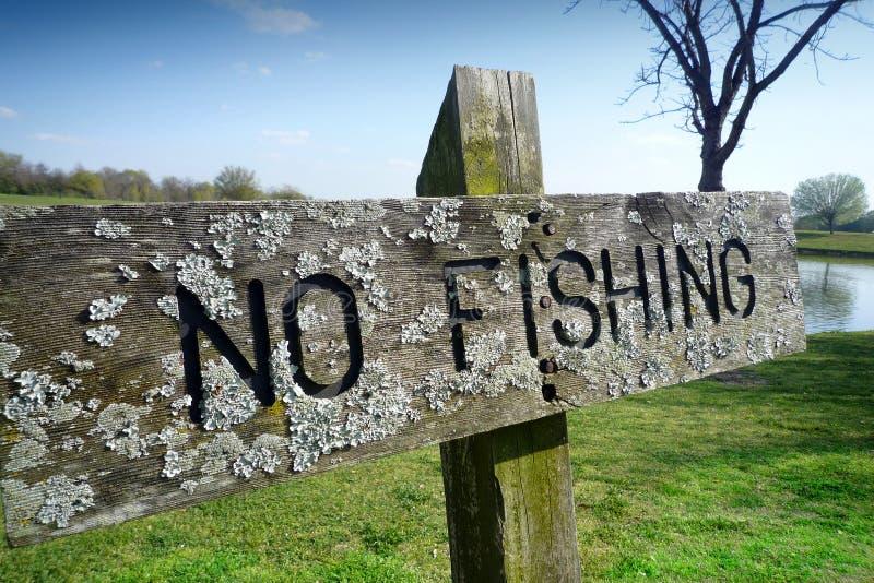 Nenhum sinal da pesca imagens de stock royalty free