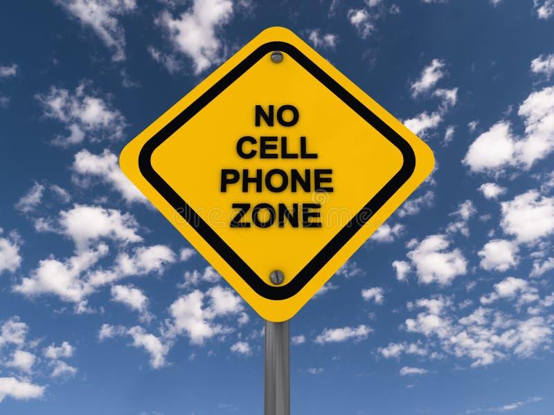Nenhum sinal da zona do telefone celular imagem de stock