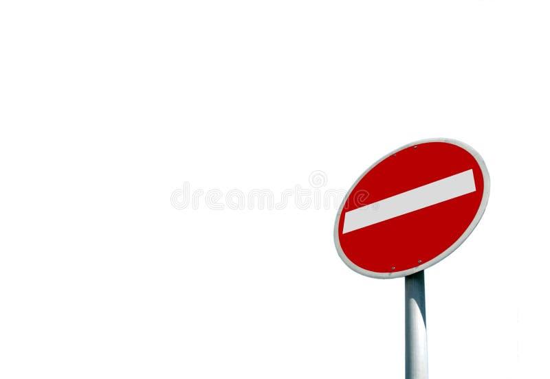 Nenhum sinal de estrada da entrada fotos de stock