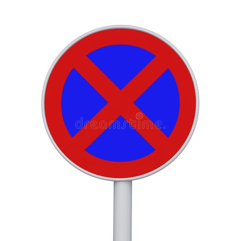 Nenhum sinal de parada e de estacionamento ilustração royalty free