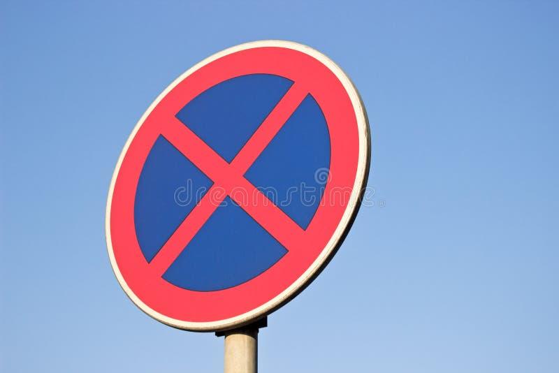 Nenhum sinal de tráfego do estacionamento imagens de stock