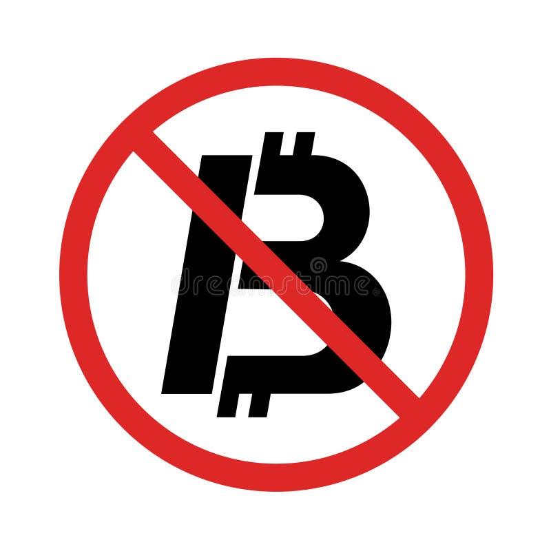 Nenhum sinal digital da moeda ilustração do vetor