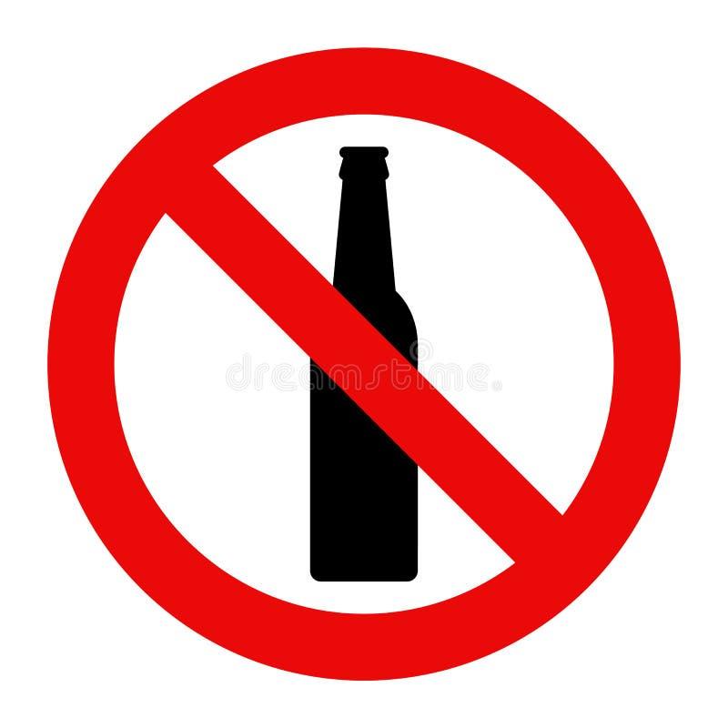 Nenhum sinal do álcool ilustração royalty free